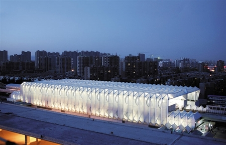 北京市西二旗地铁站户外电动百叶