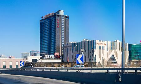 北京市双全大厦户外电动遮阳FTS电动天棚帘